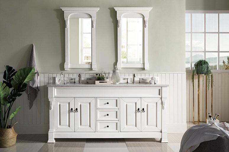 3d double bathroom vanity