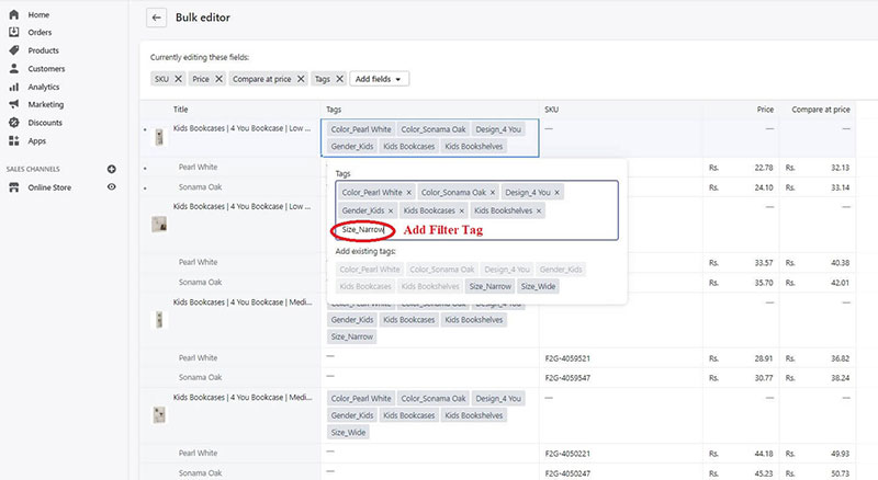 step 6 filter tag updates - Additional view 5