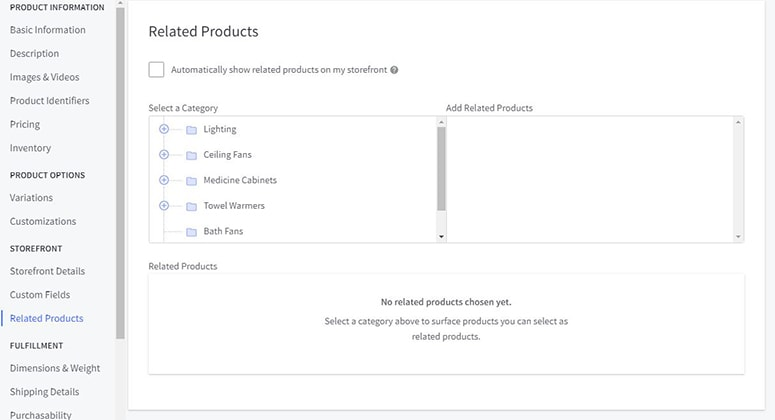 bigcommerce related products