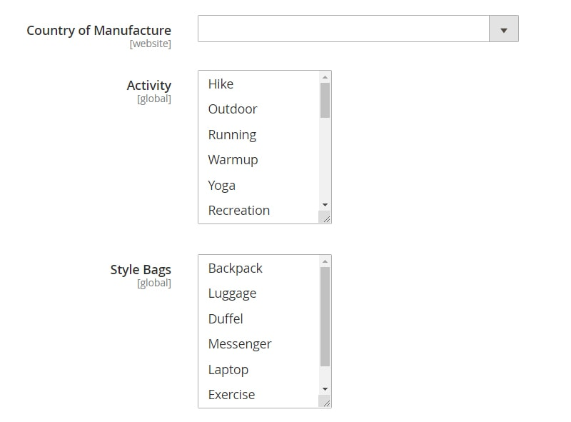 how create magento 2 simple products country of manufacture