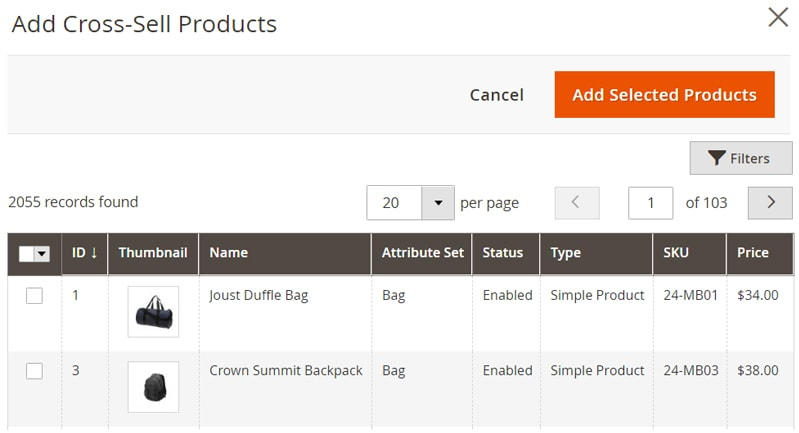 how create magento 2 simple products cross sell products