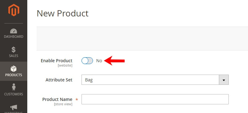how create magento 2 simple products disable the enable product