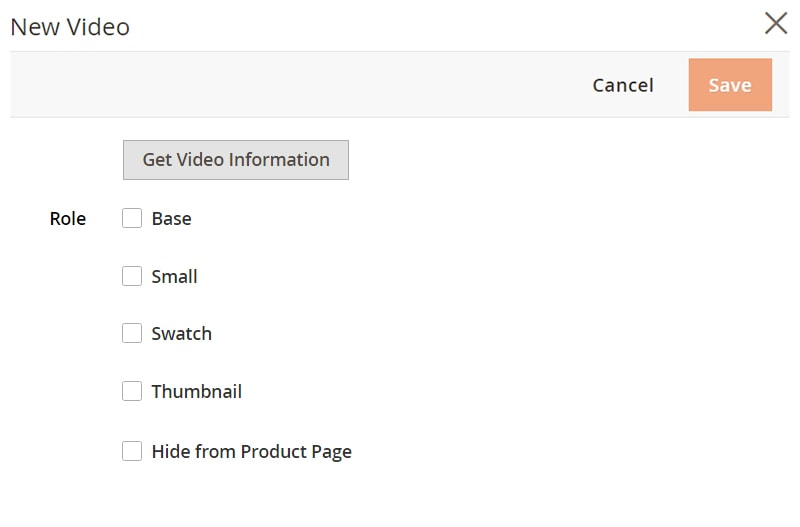 how create magento 2 simple products get video information