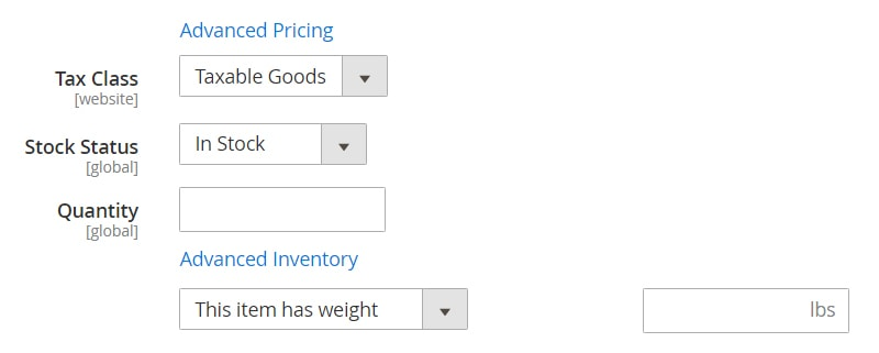 how create magento 2 simple products taxable goods