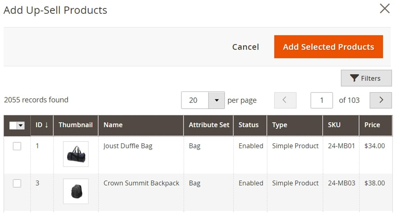 how create magento 2 simple products up sell products