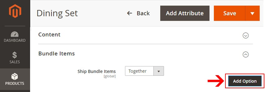 how to create bundle products in magento 2 add option