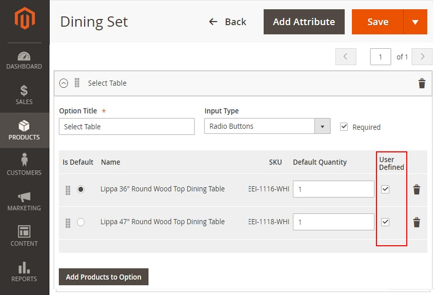 how to create bundle products in magento 2 add selected products user defined