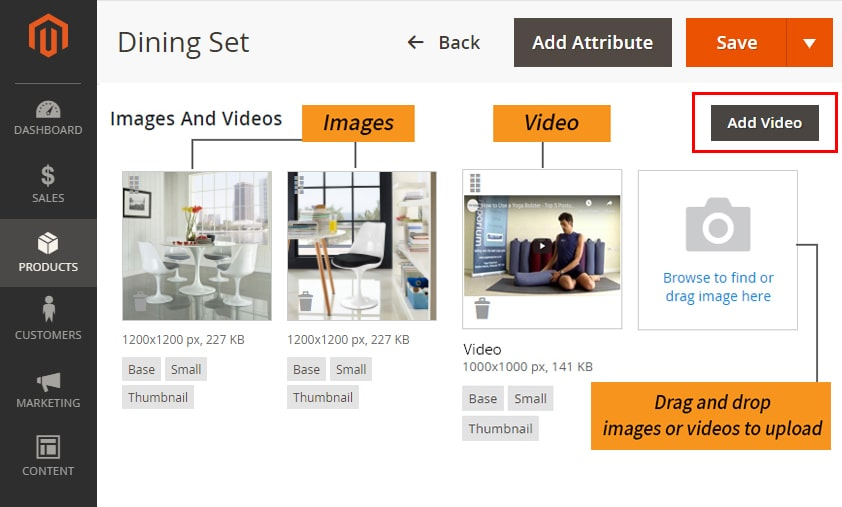 how to create bundle products in magento 2 upload images or videos