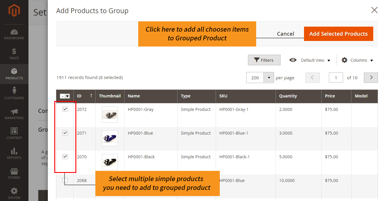 how to create magento 2 add simple product to grouped product