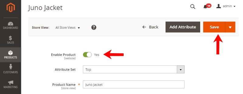 How to create Magento 2 Configurable product save button