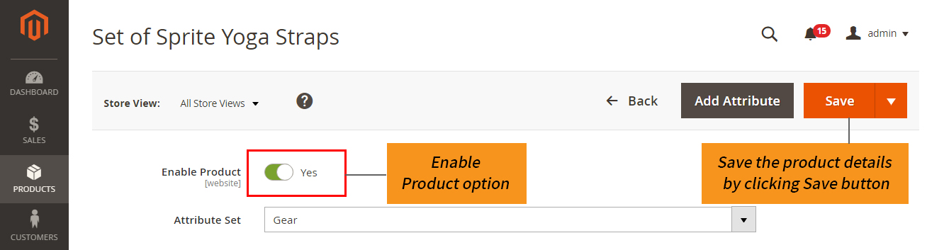how to create magento 2 grouped product enable product option and save