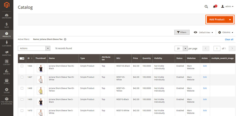 magento 2 add new products
