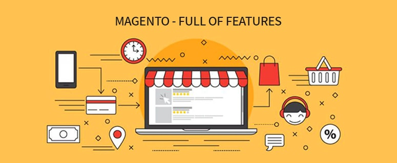 magento full of features