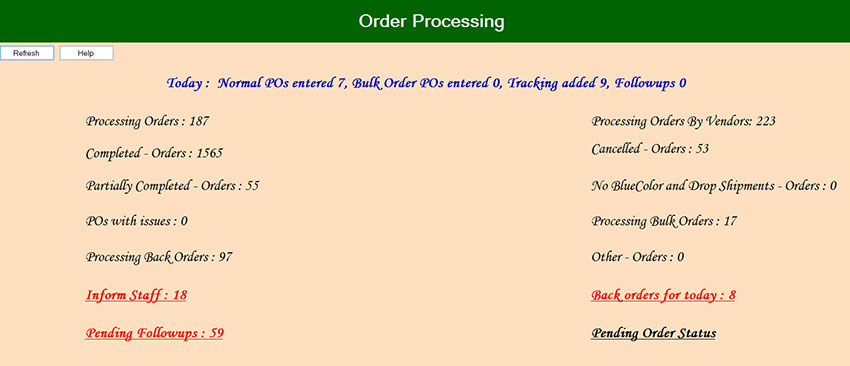 order processing software