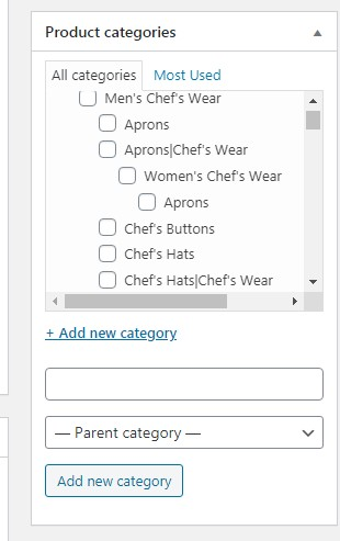 product catagory in woocommerce 2