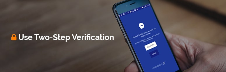 use two step verification