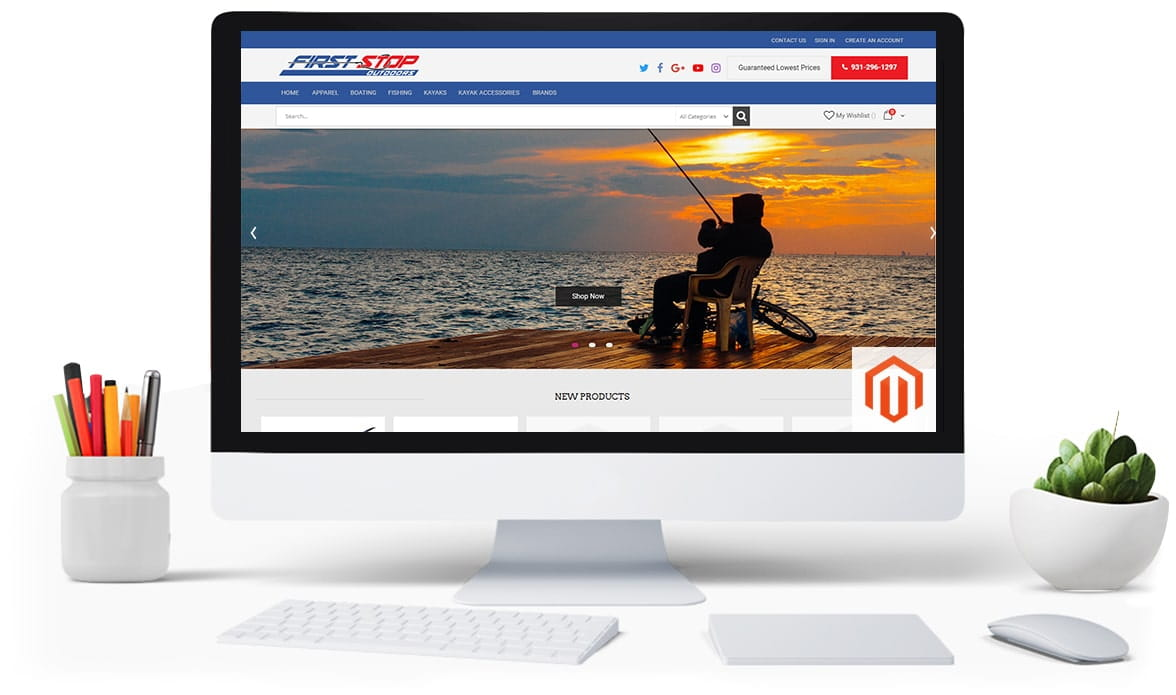 fishing magento 2 template