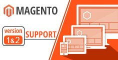 magento version 1 & 2 support