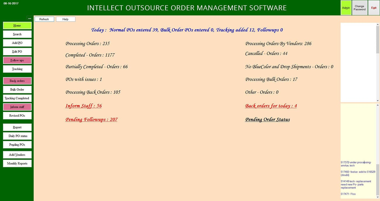 order management service software