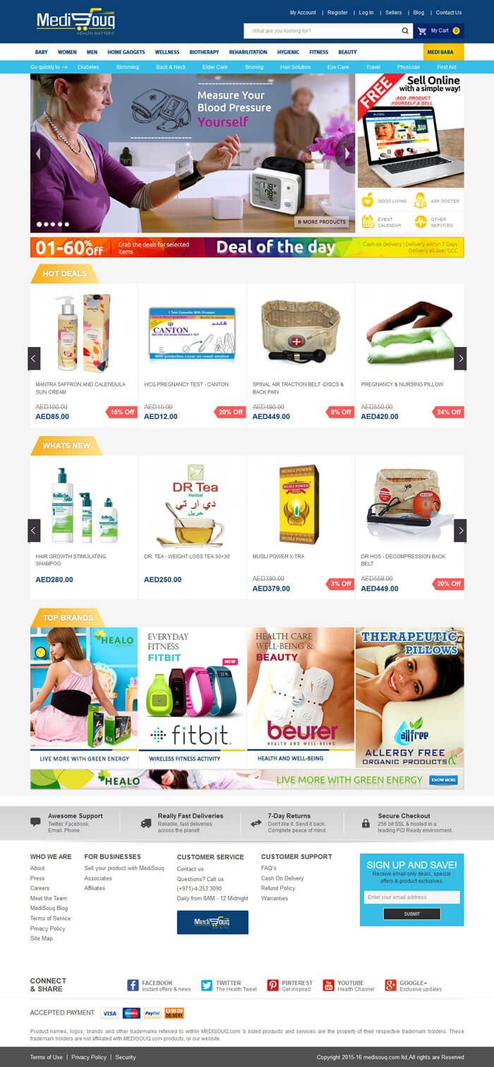 medical store magento template