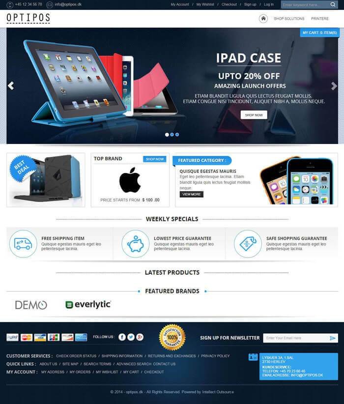 optipos electronic store magento template