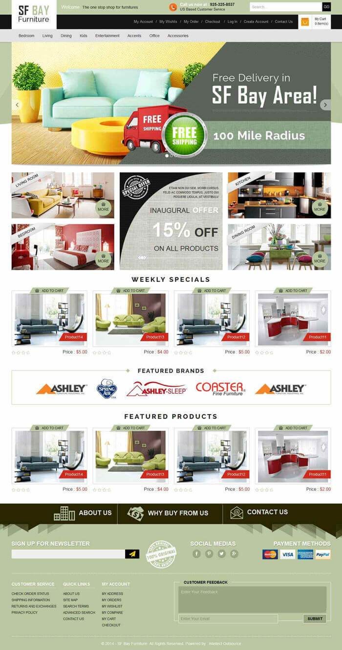 sf bay furniture magento template